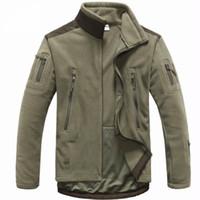 Uomini abbigliamento tattico autunno inverno in pile giacca esercito softshell outdoor caccia abbigliamento uomo giacche stile softshell