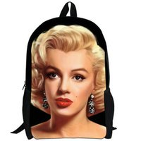 cb597b048707 Marilyn Monroe backpack Goddess star daypack Classic schoolbag Beauty  rucksack Sport school bag Outdoor day pack