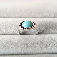Prezzo di fabbrica Retro Style Anelli di pietra di malocchio Il Signore degli anelli per le donne La ragazza può mescolare il colore EFR005