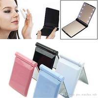 Makeup Mirror 8 Светодиодные светильники Лампы косметические складные портативные компактные карманные ручные зеркало составляют под фонари с облегченным F940