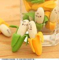 8 pcs banana expressão borracha frutas eraser adorável forma de frutas mini eraser escola correção suprimentos crianças aprendendo brinquedos