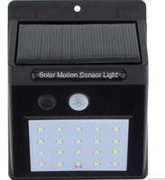 20 LED 방수 IP65 태양 강화 된 무선 PIR 모션 센서 빛 야외 정원 풍경 마당 잔디 보안 벽 램프