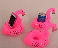 Inflatable Toy Beach Floating Flamingo Drink Can Key Wallet ...