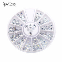 Wholesale- 1. 5mm Silver Transparent Wheel Round Glitter Nail...