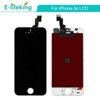 IPhone 5 5 S 5C LCD Ekran Dokunmatik Ekran Digitizer Meclisi Değiştirme Ücretsiz DHL Siyah Beyaz Renk