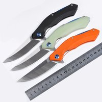 Top Quality Russia Flipper Folding knife 440C 58HRC Satin Bl...