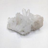 70 г натуральный прозрачный хрусталь Каменное скопление красивый белый кварцевый хрустальный кластер рейки исцеление для украшения
