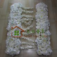 La nuova fila dell'arco del fiore della rosa di ortensia della peonia dell'arco del fiore di simulazione fiorisce i fiori 10pcs / lot del cavo della strada di nozze di nozze