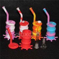 실리콘 패드 실리콘 Rigs Waterpipe 실리콘 Hookah Bongs 실리콘 Dab Rigs 차가운 모양 무료 배송 DHL
