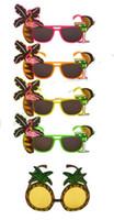 Gafas hawaianas Coctel tropical Hula Beach Cerveza Gafas de sol Gafas de sol Piña Flamingo Gafas Hen Etapa de noche Vestido de fantasía Favores