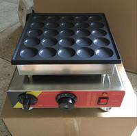Livraison gratuite 2 pcs / lots 25 Pcs commerciaux 110v 220v Poffertjes Mini crêpes néerlandais Maker machine de plaque Baker