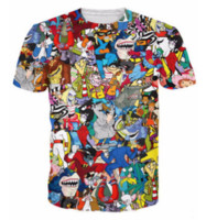 Neueste Mode Mens / Womans Extreme 90er Jahre Kid Cartoons Collage T-Shirt Sommer Stil Lustige Unisex 3D Print Casual T-Shirt AA280