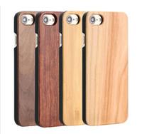 브랜드 새로운 전화 케이스 나무 아이폰 6 6 초 7 플러스 대나무 나무 PC 하드 다시 커버 삼성 S6 S7 가장자리 S8 플러스 무료 DHL