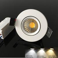 뜨거운 판매 3w 5w 개 암 나무 열매는 downlight dimmable led 최근 천장 스포트 라이트 램프 110v 220v 자연 흰색 4000K + 드라이버 CRI85