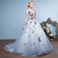 SSYFashion 2017 High- end Long Evening Dress Fresh Light Blue...