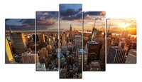 YIJIAHE Modern Print Canvas Painting Dawn 5 Piece Canvas Art Wall Pictures для гостиной Большая стенопись Art A4 с рамкой