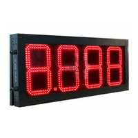 Gas station led price sign 8 10 12 16 20 inches digits fuel ...
