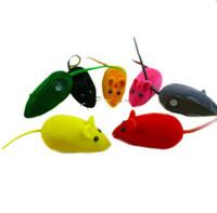 Novo divertido som mastigar brinquedo rato falso rato de estimação gato gatinho cão cachorro jogando squeaky