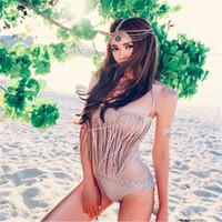 2019 Bikini Set de dos piezas para mujer Sujetador de triángulo Traje de baño Traje de baño Moda Mujeres sexy Bikini chic Diseño de borlas Traje de baño ouc400