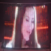 LED Video Curtain P3 2M*4M PC Control,LED Flexible screen with Flight Case