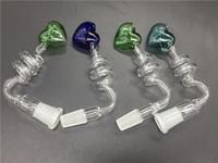 Coupe colorée de tabac à fumer coeur Bangs verre Bangers helix bols en verre pour eau verre bangs rig