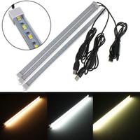 Precio más bajo Interruptor USB 35CM 7W 24 SMD 5630 LED Rigid Strip Hard Bar Light Tube Lamp DC5V