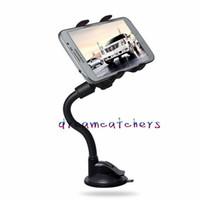 Bras long universel 360 degrés de rotation du pare-brise de voiture flexible support de support de la ventouse de montage pivotant pour iPhone Samsung LG téléphone portable GPS