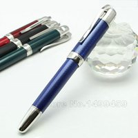 Luxury Mon novelty Design Blue Roller ball pens with silver ...