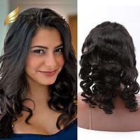 360 pizzo frontale brasiliano onda allentata chiusura dei capelli umani vendite Bellahair colore naturale colore vergine capelli vergini