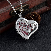 IJPD0007 Kalp Difüzör Uçucu Yağ Madalyon Paslanmaz Çelik Araba Aromaterapi Kolye Kolye Ücretsiz Pedleri