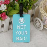 Nouvelle valise Etiquettes de bagages Identificateur Etiquette Identité du titulaire de la protection de l'environnement Étiquette de bagage Accessoires de voyage