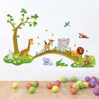 Sevimli Wallsticker Anaokulu Duvar Sanat Dekorasyon Sticker Duvar Düzlem Kağıt Duvar Çıkartması Ev Aksesuarları Tedarikçisi Için
