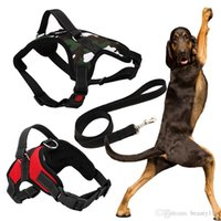 New Big Dog Soft Einstellbare Harness Pet Large Dog Walk Out Harness Weste Kragen Handschlaufe für Kleine Mittelgroße Hunde mit Seil