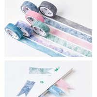 1.5cm * 7m 자연 스카이 컬러 장식 와일드 테이프 DIY Scrapbooking 마스킹 테이프 학교 사무실 공급 2016