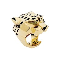 Wholesale- Fashion Quality Gold Plating Leopard Man Woman Co...