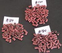 300 unids clasificados # 80, # 120, # 180 bandas de lijado de tambor de lijado de uñas para brocas de uñas