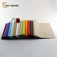 wholesale set of 2 pvc vinyl placemats for dining table runner linen place mat in kitchen accessories cup wine mat coaster pad
