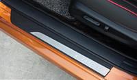 Высококачественная нержавеющая сталь с черным PP 4шт внешних порогов дверей Накладки на подножку, педаль protecion скребок для Honda CIVIC 2016-2020 гг