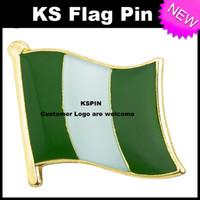 Флаг Нигерии Значок Флаг Pin 10 шт. Много Бесплатная доставка KS-0143