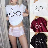 T-Shirt da donna 2017 Fashion T-Shirt Harajuku Abbigliamento Tee Print Wonder in cotone manica corta T-shirt Harry Potter