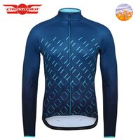 Men' s Long Cycling Jersey Winter Thermal Fleece Bicycle...