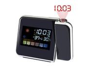 Elektronik Dijital LCD Çalar Saat Zamanlayıcı Projektör Termometre Nem Ölçer Hava İstasyonu
