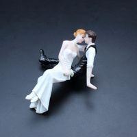 Couple romantique mariage gâteau Topper décoration Figurine mariée et le marié pour les événements célébrer Polyresin matériel cadeaux mignons