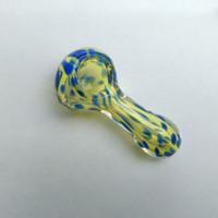 Pipe Glass Smoking Pirex Oil Burner Pipe Glass Pipes Colorful Mini Hand Pipes per il fumo Spedizione gratuita