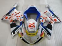 Kit carenatura per Suzuki GSXR1000 00 01 02 Bianco BLU BLUE Set GSXR1000 2000 2001 2002 OT03
