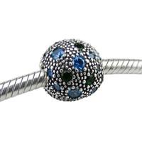 2017 sommer original 100% 925 sterling silber clip perlen lose perlen passt für pandora armband diy schmuck mit grünen zirkon charme