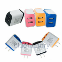 New US Dual USB AC Power Adapter Wall Charger Travel Adaptor...
