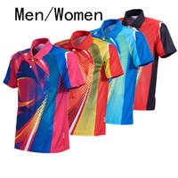Quente, novo badminton / tênis de mesa desgaste de manga curta de verão homens jaqueta / mulheres camisa de tênis de ar seco velocidade
