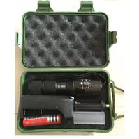 Torcia subacquea LED T6 XML impermeabile impermeabile Torcia a luce lampada con scatola regalo caricabatterie 18650