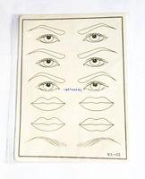 10pcs maquillage de la pratique de tatouage de la paupière de la paupière permanente sourcil pour les débutants pratique de tatouage du maquillage permanent